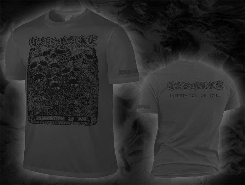 Carnage - infestation of evil (dark grey shirt / black print) shirt