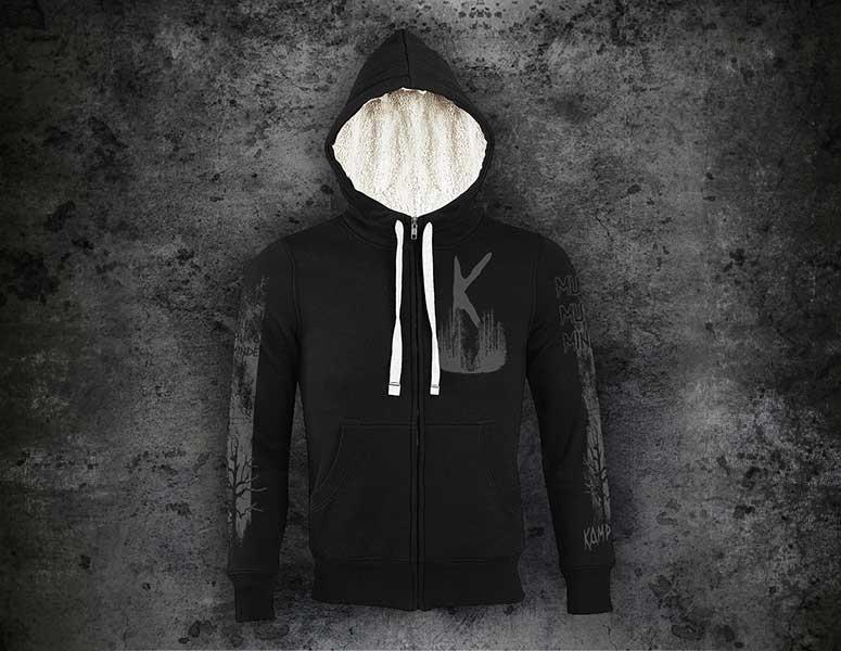 Kampfar---muro-muro-minde---hooded-zipper-sherpa-jacket