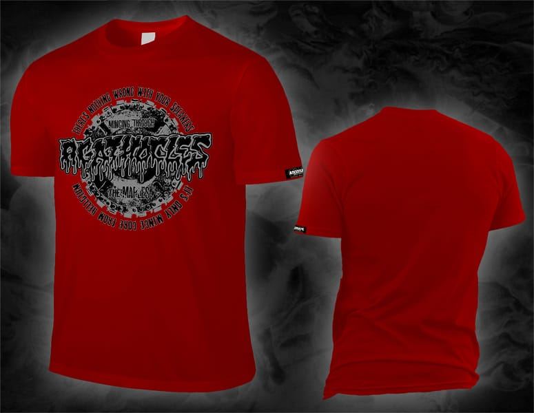 "AGATHOCLES ""mincing through the maples"" red shirt"