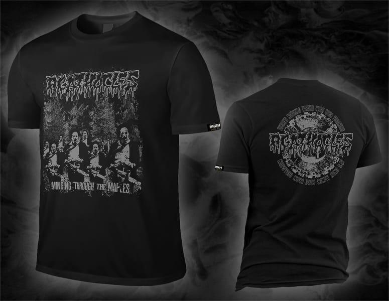"AGATHOCLES ""mincing through the maples"" black shirt"