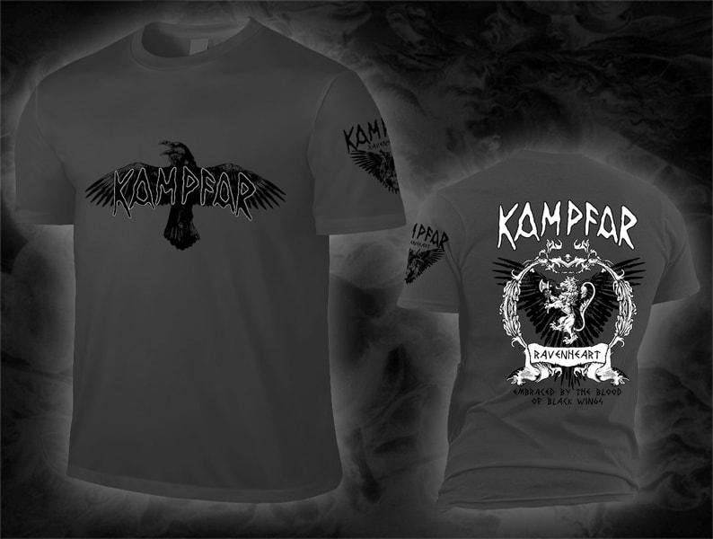 kampfar_ravenheart_grey_Shirt