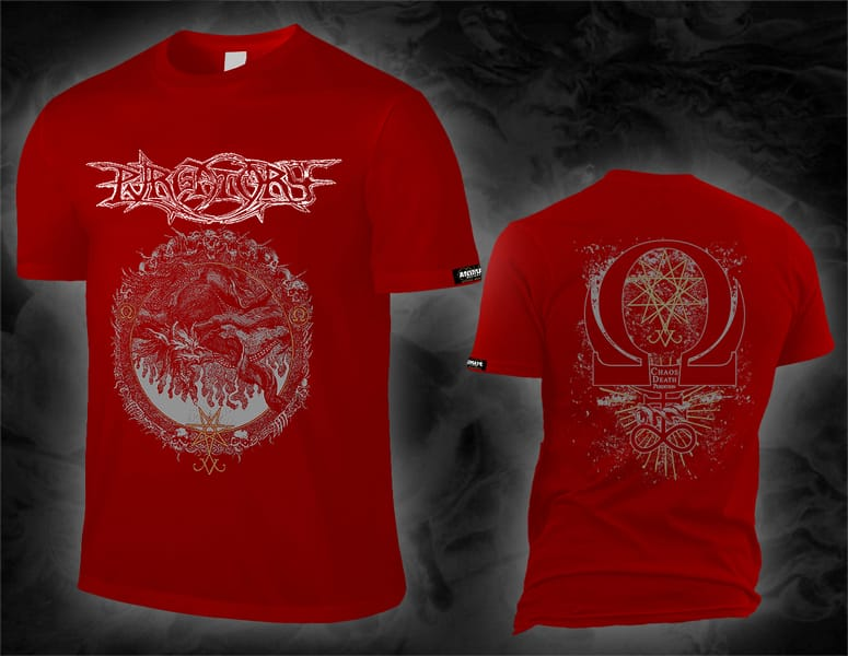 "PURGATORY ""chaos death perdition"" red T-Shirt"