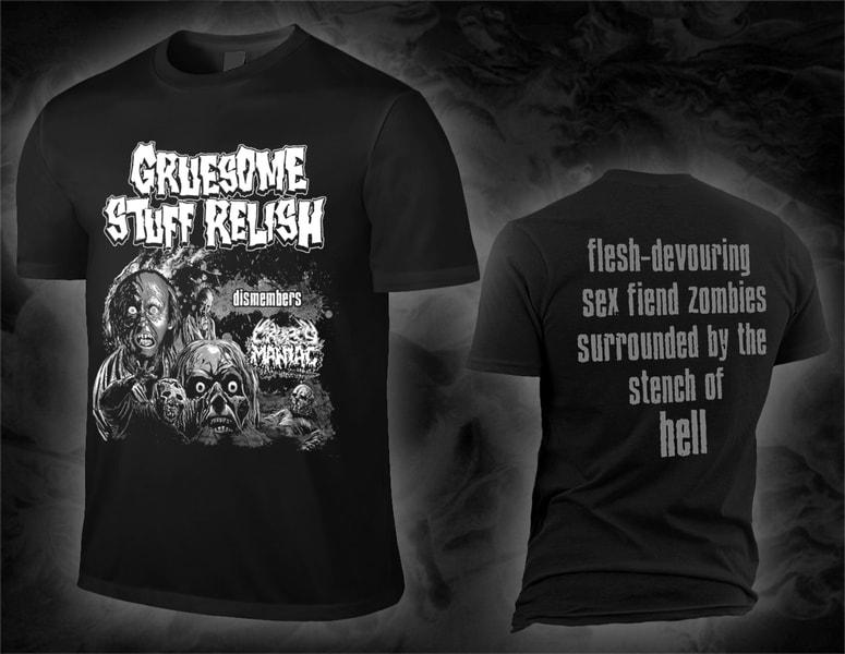 "GRUESOME STUFF RELISH ""… dismembers CROPSY MANIAC"" shirt"