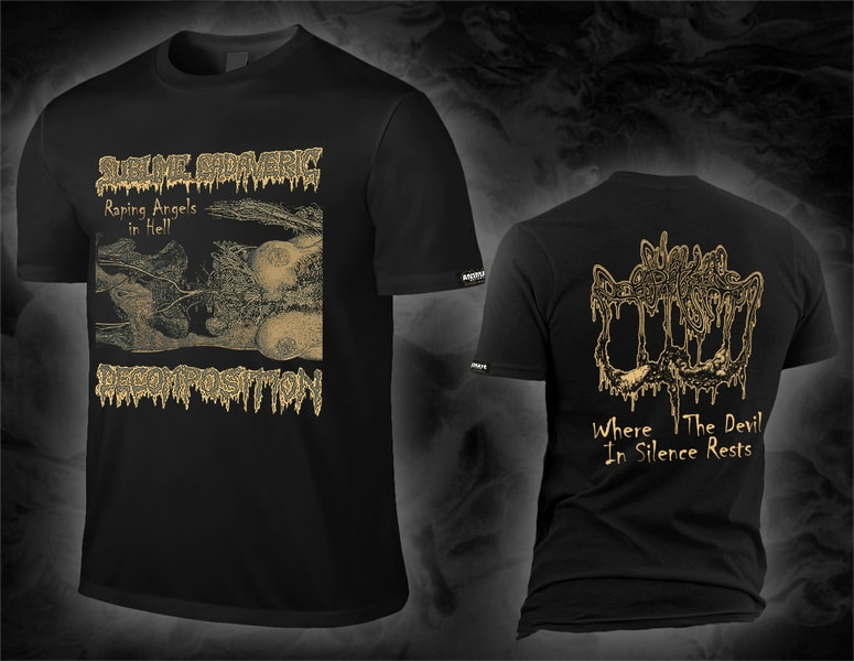 "SUBLIME CADAVERIC DECOMPOSITION ""where the devil in silence rests"" shirt"