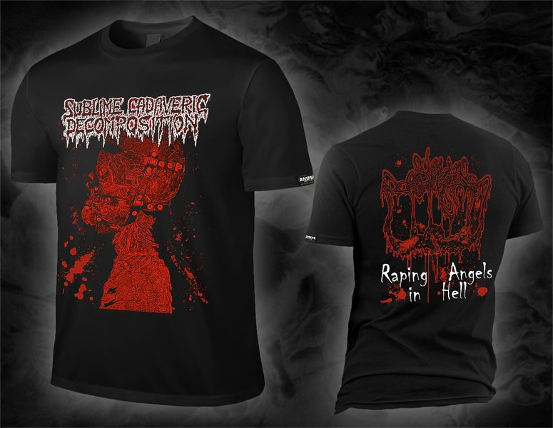 "SUBLIME CADAVERIC DECOMPOSITION ""raping angels in hell"" black T-Shirt (lim. 300)"